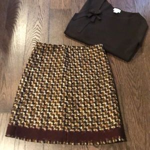 Prada Textured Wool Blend Skirt
